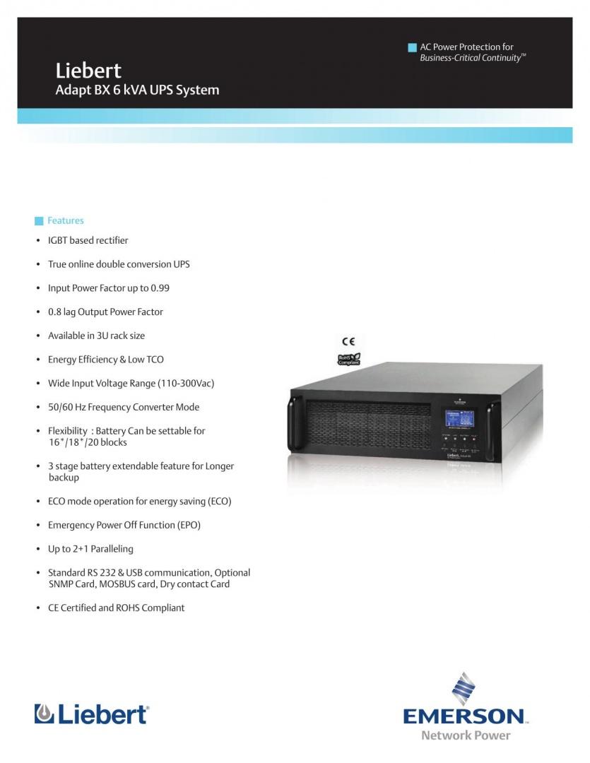 Liebert Adapt BX 6kVA UPS System_1