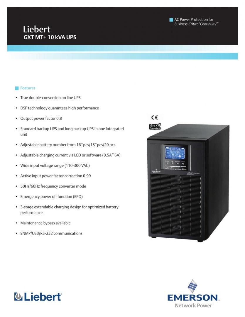 Liebert GXT MT+ 10kVA UPS_1