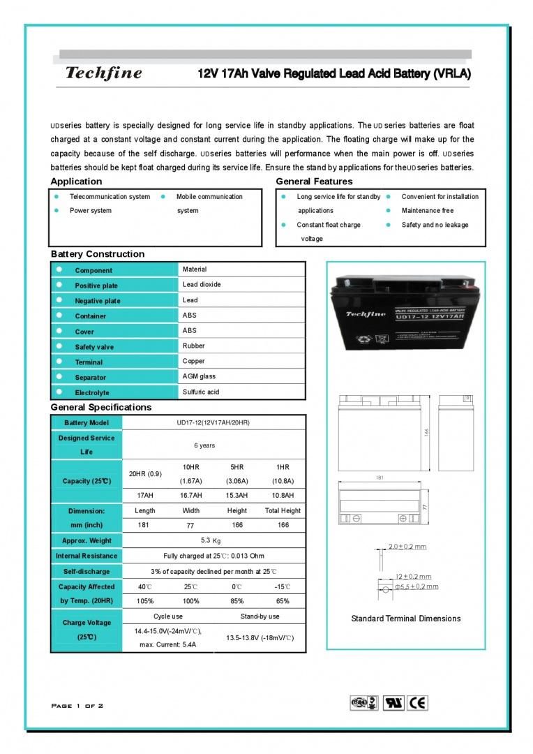 Techfine-12V17AH-001