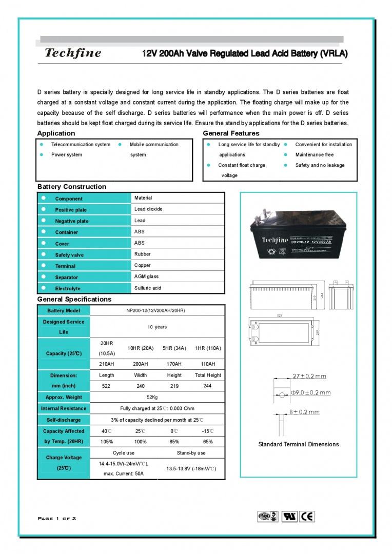 Techfine-12V200AH-001